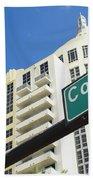 Collins Avenue Beach Towel