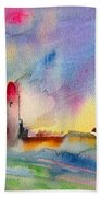 Collioure Impression 01 Beach Towel