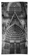 Cologne Cathedral 11 Bw Beach Towel
