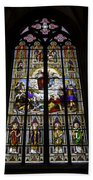 Cologne Cathedral Stained Glass Window Of St Paul Beach Towel