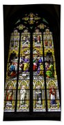 Cologne Cathedral Stained Glass Window Of St Peter Beach Towel