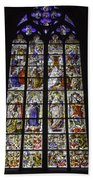 Cologne Cathedral Stained Glass Window Of The Three Holy Kings Beach Towel