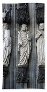 Cologne Cathedral Statuary Beach Towel