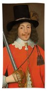 Colonel John Hutchinson, C.1643 Beach Towel