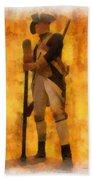Colonial Soldier Photo Art  Beach Towel