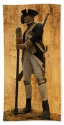 Colonial Soldier Beach Towel by Thomas Woolworth
