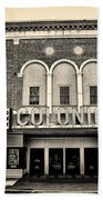 Colonial Theater In Phoenixville In Sepia Beach Towel