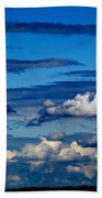 Color Burned Clouds Beach Towel