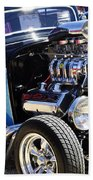 Color Chrome 1932 Black Ford Coupe Beach Towel