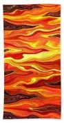 Color Fashion Waves Beach Towel