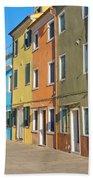 Color Houses In Row Beach Towel