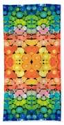 Color Revival - Abstract Art By Sharon Cummings Beach Towel