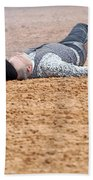Color Rodeo Gunslinger Victim Beach Towel