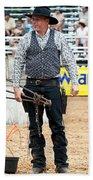 Color Rodeo Shootout Gunslinger Beach Towel
