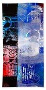 Color Scrap Beach Towel by Nancy Merkle