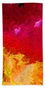 Color Shock 4 - Vibrant Digital Painting Beach Towel by Sharon Cummings