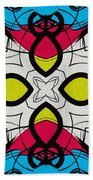 Color Symmetry 3 Beach Towel
