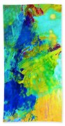Color Wash Abstract Beach Towel