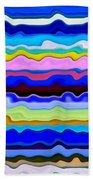 Color Waves No. 4 Beach Towel
