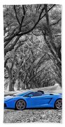 Color Your World - Lamborghini Gallardo Beach Towel by Steve Harrington