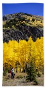 Colorado Autumn Hike Beach Towel