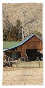 Colorado Barn Beach Towel