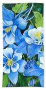 Colorado Columbines Beach Towel