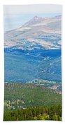 Colorado Continental Divide Panorama Hdr Crop Beach Towel