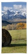 Colorado Haybale Beach Towel