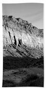 Colorado River Cliff Bw Beach Towel