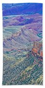 Colorado River From Walhalla Overlook On North Rim Of Grand Canyon-arizona Beach Towel