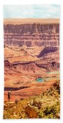 Colorado River One Mile Below And 18 Miles Across The Grand Canyon  Beach Towel