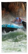 Colorado River Rafters Beach Towel by Inge Johnsson
