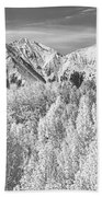 Colorado Rocky Mountain Autumn Beauty Bw Beach Towel
