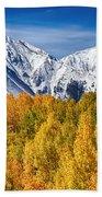 Colorado Rocky Mountain Autumn Magic Beach Towel