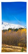 Colorado Rocky Mountain Independence Pass Autumn Pano 1 Beach Towel