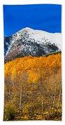 Colorado Rocky Mountain Independence Pass Autumn Panorama Beach Towel