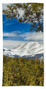Colorado Rocky Mountain View Beach Towel