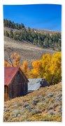 Colorado Rustic Rural Barn With Autumn Colors  Beach Towel
