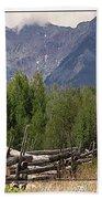 Colorado Wilson Peak Clouds Beach Towel