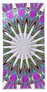Colored Foil Lily Kaleidoscope Under Glass Beach Towel