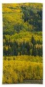 Colored Hillside Beach Towel