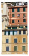 Colored Italian Facades Beach Towel