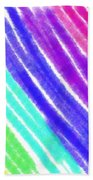 Colored Lines Beach Towel