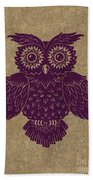 Colored Owl 1 Of 4  Beach Towel