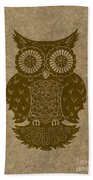 Colored Owl 3 Of 4  Beach Towel