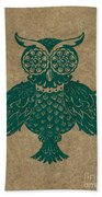 Colored Owl 4 Of 4  Beach Towel