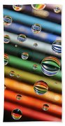 Colored Pencils Beach Towel