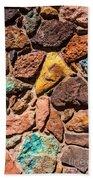 Colored Stone Rock Church Wall - Cedar City - Utah Beach Towel