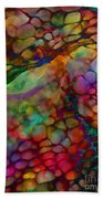 Colored Tafoni Beach Towel